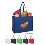 Promotional Non Woven Matte Laminated Shopper Tote