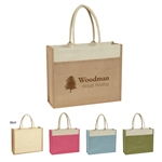 Promotional Jute Tote w-Front Pocket