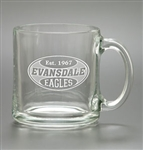 Logo 13 oz. Deep Etch Clear Crystal Coffee