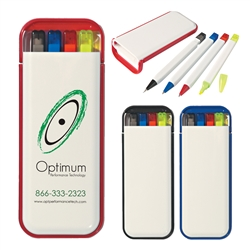 Custom 4-In-1 Pocket Size Writing Set