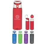 Custom Flip Top Tritan Sports Water Bottle 24oz