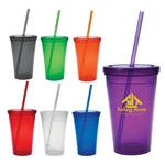 14 oz. Steel City Stainless Steel Contour Tumbler