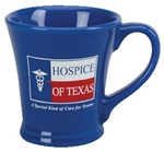 14oz Ceramic Flair Latte Promoational Mugs | Custom Logo Mugs