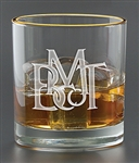 Logo 11 oz. Deep Etched Executive Old Fashion