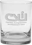 Promotional Executive Double Deep Etched Glass 14oz