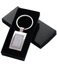 Promotional Rectangular Lasered Keychain