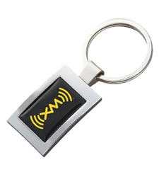 Personalized Rectangular N-Dome™ Key Tag