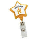 Promotional Star C4-D Badge Holder w-Bulldog Clip