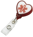 Custom heart C5-N Badge Holder w-Bulldog Clip