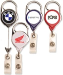 Customizable Badge Reel w-Carabiner