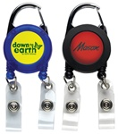 Custom Logo Dual Carabiner Badge Reel