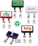 Personalized Dual Strap Logo Badge Reel