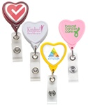Custom Heart Shaped Badge Reel w-Logo