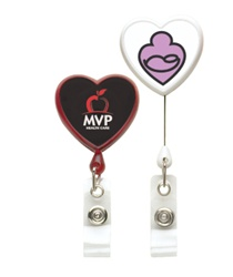 Personalized Retractable Heart Badge Holder