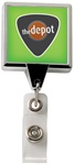 Personalized Chrome Square Jumbo Badge Reel