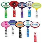 Personalized Logo Oval ID Jumbo Badge Reel
