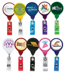 Promotional Round JUMBO Badge Reel w-Logo