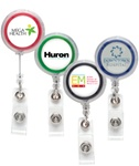 Custom Logo Clear Jumbo Badge Reel