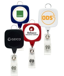 Promotional Sqround Jumbo Badge Holder w-Lanyard