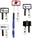 Personalized Jumbo Size ID Badge Holder w-Pen