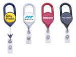 Custom Jumbo Badge Reel w-Carabiner