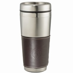 Custom Classic Leather Cutter & Buck Tumbler 16oz