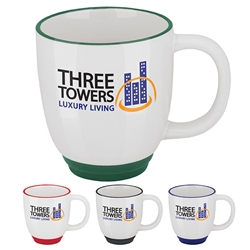 Promotional Bistro Two-Tone Coffee Mug 12oz