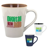 14oz Two Tone Ceramic Mug with Shiny Finish | Personalized Mugs