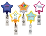 Promotional Pink Awareness Logo Star Badge Holder