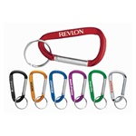 Logo Imprinted 6mm Carabiner Keychain
