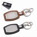 Custom Logo Brushed Plate Keychain