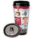 Oval Shaped 16 oz Travel Tumbler