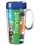 Full Color Promotional Travel Mugs 16 oz