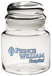 Custom Apothecary Jar w-Dome Lid 16oz