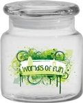 Logo 16 oz. Apothecary Jar with Flat Lid