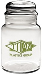 Promotional Apothecary Jar w-Dome Lid 26oz