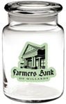Logo 26 oz. Apothecary Jar with Flat Lid
