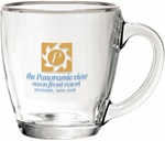 Custom Bistro Coffee Clear Glass Coffee Mug 15.5oz