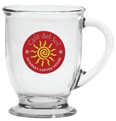 Custom Clear Café Exclusive America Mug 16oz