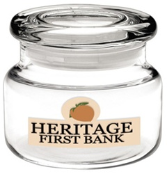 Logo 8 oz. Apothecary Jar with Flat Lid