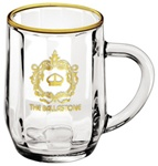 Logo 10 oz. Optic Haworth Glass Coffee Mug
