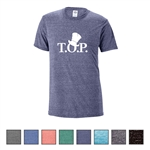 Printed Unisex Delta-Dri™ Fitted Snow Heather Adult Tee