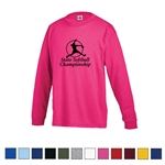 Printed Pro Weight Delta Long Sleeve Regular Fit Youth Tee