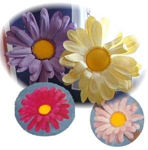 Giant Paper Daisy Flower Heads - Large Paper Wall Flowers
