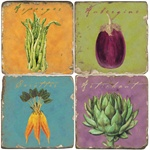 French Vegetable Wall Plaques / Trivets by Studio Vertu