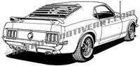 1970 mustang clip art rear 3/4 view