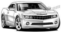 2010 Chevrolet Camaro clip art front view