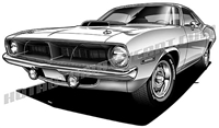 1970 plymouth barracuda clip art