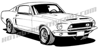 1968 shelby mustang clip art 3/4 view