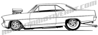 967 chevy II clip art side view